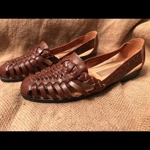 Predictions Leather Collection Boho Sandal Flats